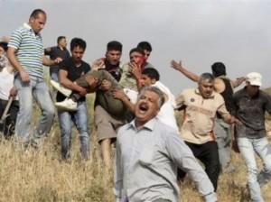 Colons sionistes tirant sur des p
