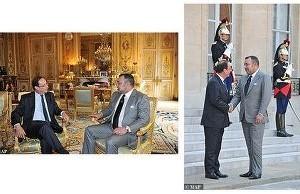 Le roi reçu par Hollande