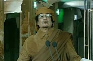 kadhafi lors de son dernier discours