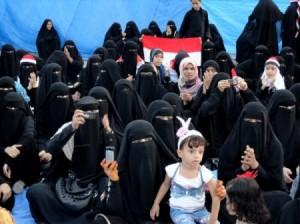 Femmes Yéménites en manif