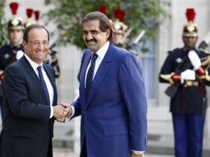 Le Dinosaure du Qatar avec Hollande