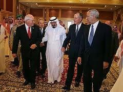 Le Roi Fahd avec ses protecteurs lui retirant et le pétrole et son argent!