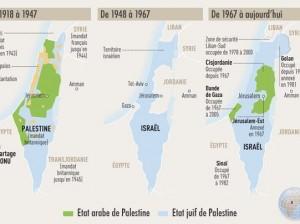 Carte de la palestine 2012