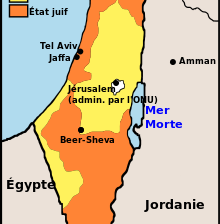 La Palestine partagée par l'ONU en 1947