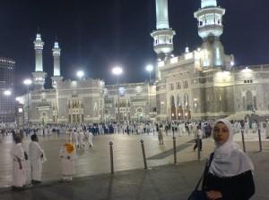 Femme saoudienne sur les lieux saints à la Mecque