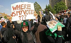 Femmes réclamant son droit de vote