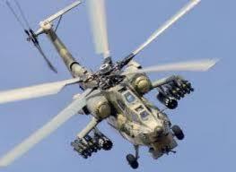 Hélicoptère de l'armée algérienne attaquant les positions des islamistes près d'In Aminas