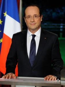 Le Président français Hollande