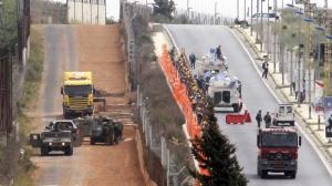 Le mur israelien sur le Golan