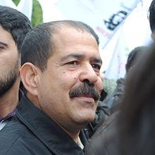 Le défunt Chokri_Belaid, Chef du Parti des Patriotes Démocrates, mouvement d'opposition tunisien