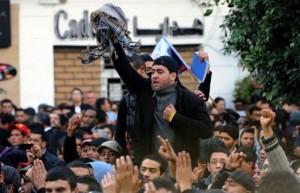 Manifestation sur l'avenue Habib Bourghiba ce matin 7 janvierà Tunis