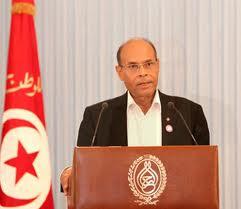 Moncif Marzouki , président de la Tunisie