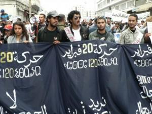 Premières manifestation Mouvement du 20 février