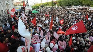 Tunis le jour de l'anniversaire de la Révolutionanniversaire