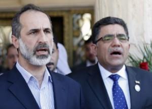 Le Président de la coalition syrienne et Chef du Gouvernement intérimaire syrien