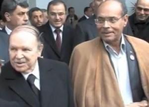 Le Président tunisien Marzouki avec Bouteflika