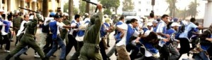 Utilisation abusive de la répression pour disperser des manifestants