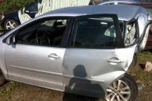Voiture des victimes de l'accident causé par Ismail Manjra
