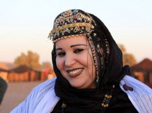 Femme sahraouie du Maroc