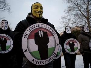Emblème d'Anonymous, le groupe de hackers qui a initié l'attaque contre l'entité sioniste