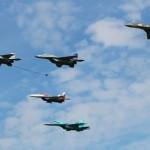 Aviation russe en entrainement d'attaques