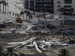 La place Lou2lou2a au centre de Manama complètement rasée par les forces de répression  étrangères