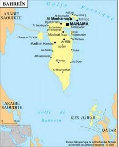 Carte du Bahrein