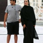 Nouveau patron du Qatar avec sa maman