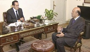 Omar Soleimane avec Moubarak