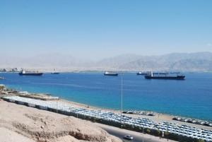 Port d'Eilat sur la mer d'Aqaba