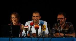 Mohamed Bennour, porte-parole tunisien du mouvement rebelle Tamarrod en conférence de presse à Tunis le jeudi 3 juillet 2013