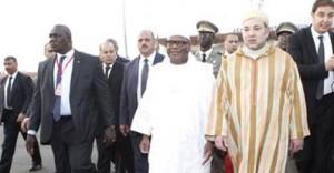 SM le Roi Mohamed VI en compagnie du Président malien