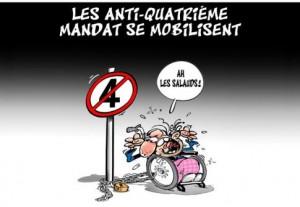 Algérie caricature sur le 4 ème mandat1