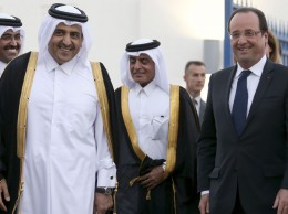 Hollande au Qatar