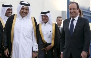 Hollande au Qatar