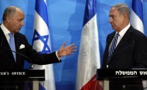Fabius et Netanyahou en conférence de presse